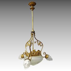 French Brass Chadelier Hanging Light
