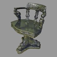 Asian Swivel Desk Chair with Dragons