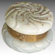 Victorian Wave Crest Dresser Jar
