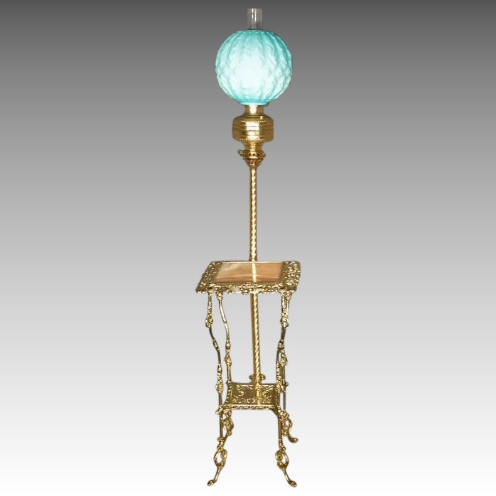 Victorian Brass Amp Onyx Floor Lamp Antiques On Hanover