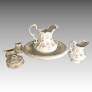 6 piece Pitcher & Bowl Set, Ironstone
