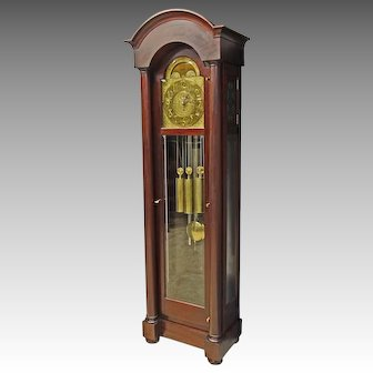 Mahogany Grandfather Tall Case Clock by Herschede