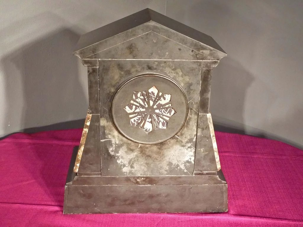 Egyptian Revival Marble Mantle Clock Antiques On Hanover