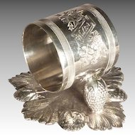 Victorian Silver Plate Napkin Ring, Walter