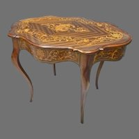 French Style Inlaid Center Table