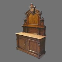 Victorian Marble Top Sideboard, Buffet