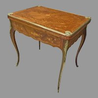 Inlaid Game Table with Bronze Mounts