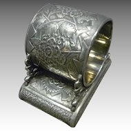 Victorian Silver Plate Napkin Ring, Esther