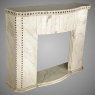 Marble Fireplace Mantle, Deco Influence