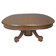 Victorian Dining Table with 6 Leaves