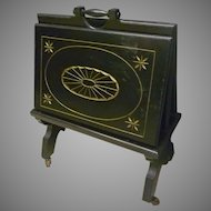 Victorian Ebonized Magazine Rack