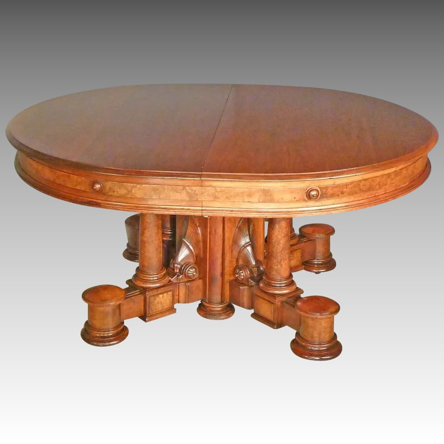 Great oval victorian dining table antiques on hanover for Dining table tj hughes