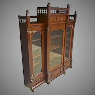 Walnut Aesthetic Victorian Bookcase