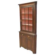 Pennsylvania Cherry Corner Cupboard