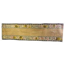 Hooked Wool Rug Runner, Signed & Dated