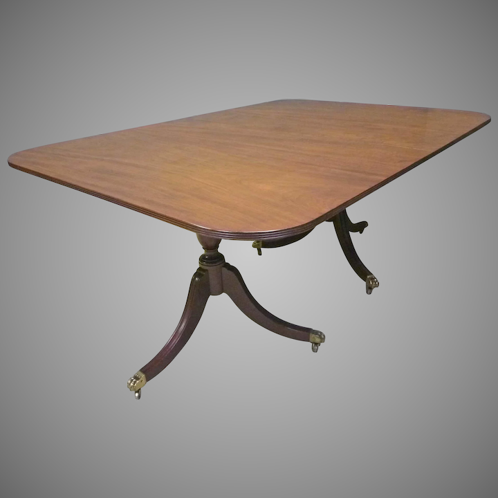 Fabulous Mahogany Duncan Phyfe Style Dining Table Home Interior And Landscaping Ologienasavecom
