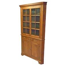Pennsylvania Cherry Corner Cupboard, Cabinet