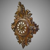 Black Forest Wall Hanging Clock by Japy Freres