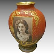 Royal Bonn Portrait Vase