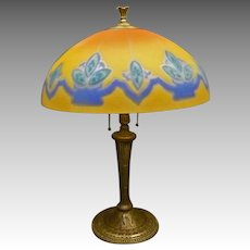 Reverse Painted Table Lamp by Miller Lamp Co.