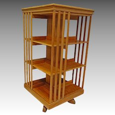 Cherry Revolving Bookcase