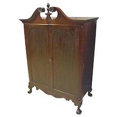 Mahogany Wardrobe, Chifferobe, Linen Cabinet