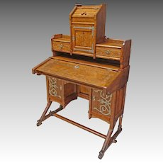 Gothic Oak Desk, Kimbel & Cabus