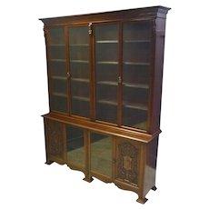 Large Mahogany Bookcase or China Display Cabinet