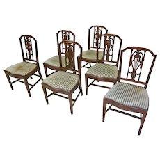 Set of 6 Hepplewhite Dining Chairs by Feldenkreis