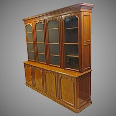 Large Victorian Bookcase, Breakfront, Library