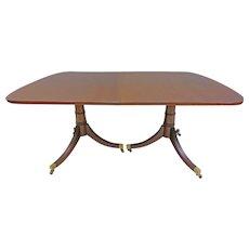 Rectangular Pedestal Dining Table, Duncan Phyfe Style