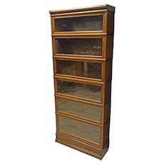 Oak 6 Stack Barrister Bookcase