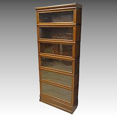 Oak 6 Stack Barrister Bookcase