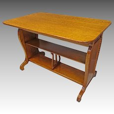 Oak Library Table