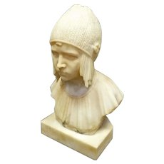 Marble Bust of Flapper Girl