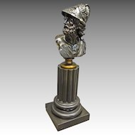 Bronze Bust of Hercules on Slate Pedestal