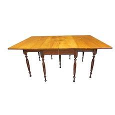 Cherry & Walnut Drop Leaf Dining Table