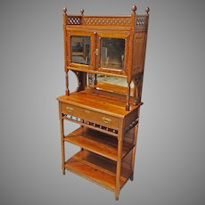 Small Cherry Bookcase, Display Cabinet, Etagere