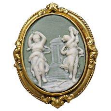 Victorian Wedgwood Cameo, Brooch, Pin