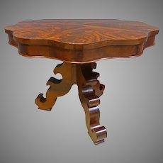 Mahogany Empire Center Table