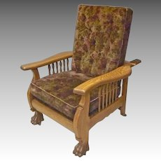 Oak Reclining Morris Chair