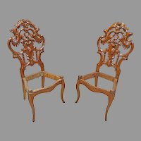 Mechanicsburg, PA Signed Pair of Side Chairs by Mauk