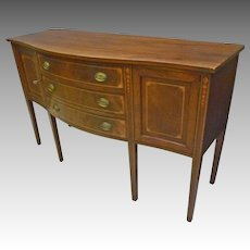 Mahogany Inlaid Hepplewhite Sideboard