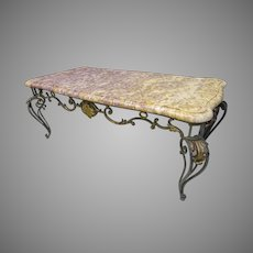 Marble & Iron Coffee Table