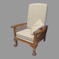 Mahogany Morris Chair, Recliner