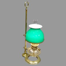 Victorian Student Lamp with Hinks Burner