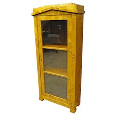 Biedermeier Narrow Display Bookcase