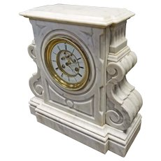 Large Marble French Clock by Falisse