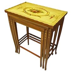 Set of Painted Nesting Tables