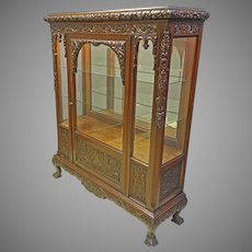 Mahogany China Cabinet with Beveled Glass